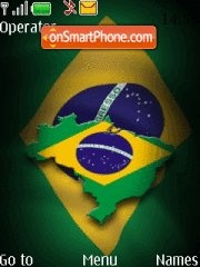 Brazil Flag theme screenshot