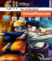 Naruto vs sasuke es el tema de pantalla