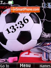 Football Clock theme screenshot