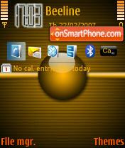 Disturbing Yellow theme screenshot