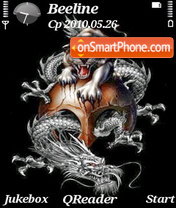 Dragon & Tiger theme screenshot