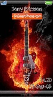 Music Guitar 02 es el tema de pantalla