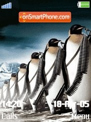 Pinguins tema screenshot