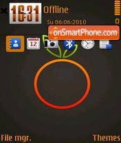 Скриншот темы Orange 17