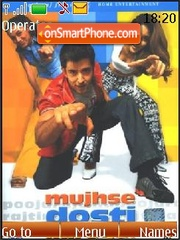 Mujhse Dosti Karoge! theme screenshot