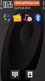 Carbon Fiber theme screenshot