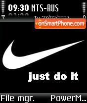 Nike Black es el tema de pantalla