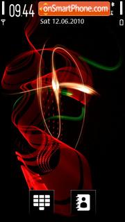 Smoke Color Red theme screenshot