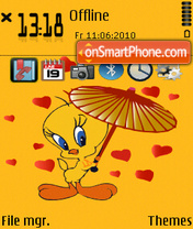 Lovely Tweety tema screenshot