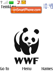 WWF Panda s40 theme screenshot