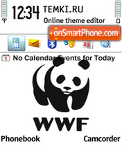 WWF Panda s60 theme screenshot