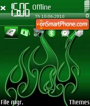Скриншот темы Green 02