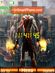 God Of War Clock theme screenshot