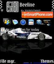 Sauber BMW 240 theme screenshot