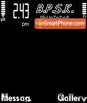 B AnD W theme screenshot