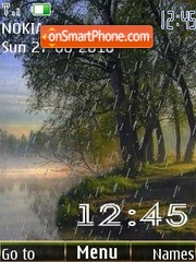 Скриншот темы Rain clock 12picture animated