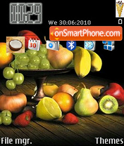 Sweet fruits theme screenshot