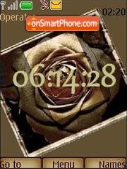 Bronze rose es el tema de pantalla