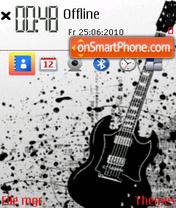 Black Guitar 02 theme screenshot