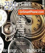 Clocks theme screenshot