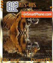 Animated Tiger es el tema de pantalla