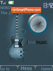 Guitar swf theme screenshot