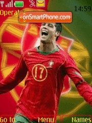 C Ronaldo With Tone theme screenshot