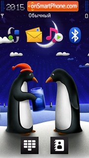 Penguin Moonlight Gift theme screenshot