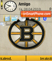 Boston Bruins 01 theme screenshot