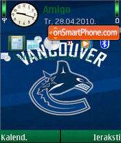 Vancouver Canucks 02 theme screenshot