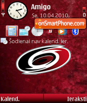 Carolina Hurricanes 01 theme screenshot