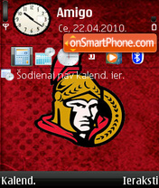Ottawa Senators 01 theme screenshot