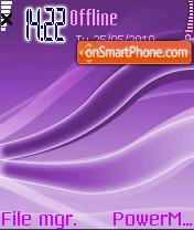 Waves Purple theme screenshot