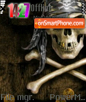 Skull 06 theme screenshot