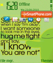 I need a hug theme screenshot