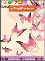 Orchids and butterflies tema screenshot