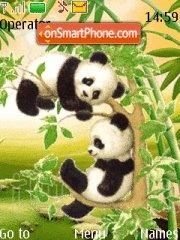 Pandas And Bamboo theme screenshot