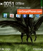 Скриншот темы Black Pegasus
