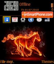 Скриншот темы Hot fire horse