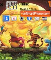 Pooh Moon View es el tema de pantalla
