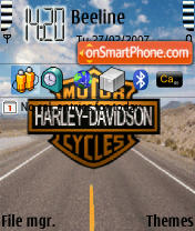 Скриншот темы Bike 2