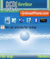Скриншот темы Blue & Lime