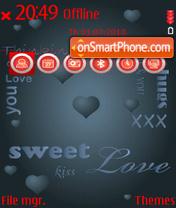 Clouded heart theme screenshot