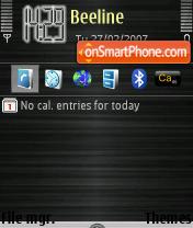 Dark N73 theme screenshot