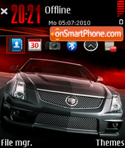Red Cadillac CTS-V theme screenshot