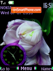 Tulip Clock theme screenshot