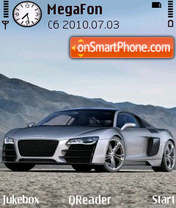 AudiR8 Silver theme screenshot