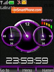 Capture d'écran Clock-and-indicator thème