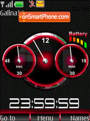 Clock-and-indicator-red theme screenshot