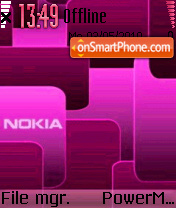 Nokia Pink 02 theme screenshot